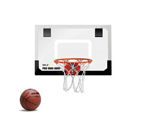 sklz pro mini basketball hoop with ball standard 18 x 12 inches