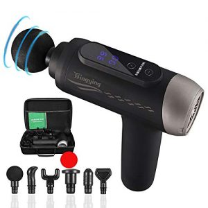 andy massage gun with 6 detachable head cordless handheld percussion 1