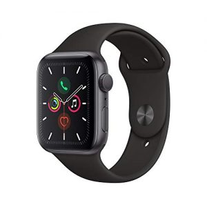 apple watch series 5 gps 44mm space gray aluminum case with black sport