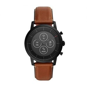 fossil mens collider stainless steel hybrid hr smartwatch color 1