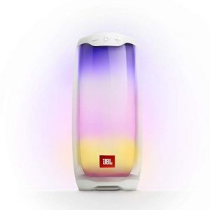 jbl pulse 4 waterproof portable bluetooth speaker with light show whtie 1