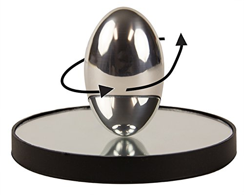 PhiTOP Physics Egg for Science Geeks | Stress Relieving Ellipsoid Spinning Top Physics Marvel and Optics Art