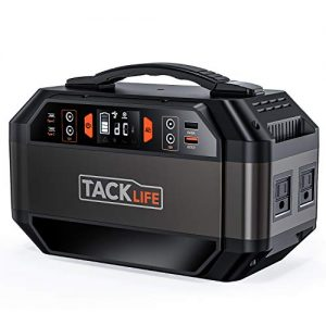 tacklife p30 299wh portable power station solar ready battery generator with 1