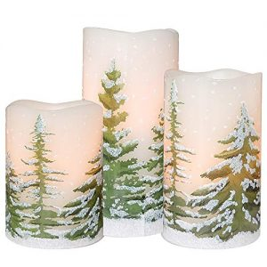 dromance flameless flickering candles battery operated with 6 hour timer set 1