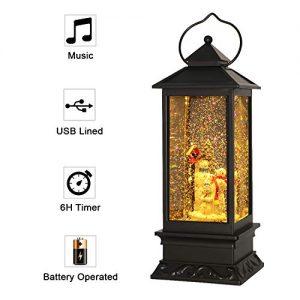 eldnacele christmas snow globe lantern with music battery operated lighted 1