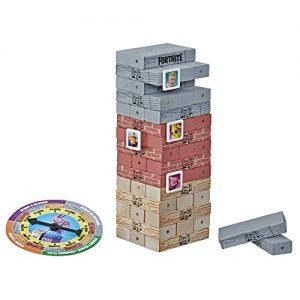 hasbro gaming jenga fortnite edition game wooden block stacking tower game