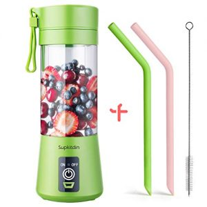 supkitdin portable blender personal mixer fruit rechargeable with usb mini