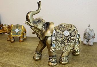Feng Shui  brass colour elegant elephant statue