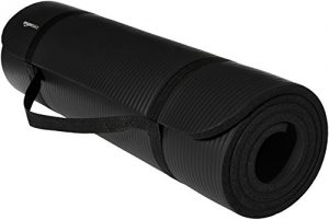 amazonbasics extra thick exercise yoga gym floor mat with carrying strap 74