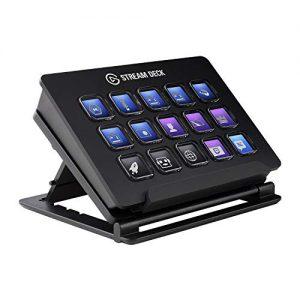 elgato stream deck live content creation controller with 15 customizable