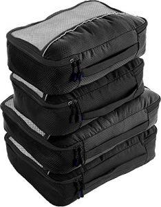 bago 4 set packing cubes for travel luggage suitcase organizer cube set