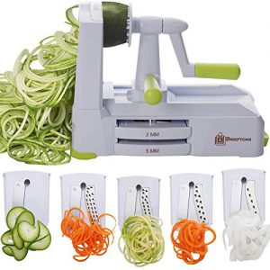 brieftons 5 blade spiralizer br 5b 02 strongest and heaviest duty