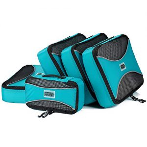 pro packing cubes 5 piece travel bags organizer for luggage multi size