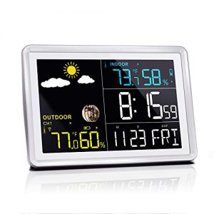 wittime latest 2081 wireless indoor outdoor thermometer hd color screen