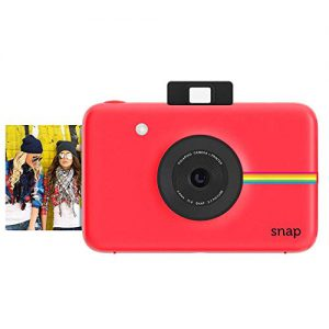 zink polaroid snap instant digital camera red with zink zero ink printing