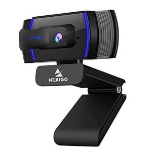 2021 autofocus 1080p webcam with stereo microphone and privacy cover nexigo