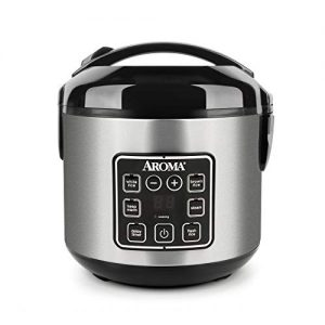 aroma housewares 2 8 cups cooked digital cool touch rice grain cooker and