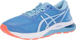 asics womens gel nimbus 21 running shoes 10m blue coastskylight