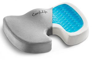 comfilife gel enhanced seat cushion non slip orthopedic gel memory foam