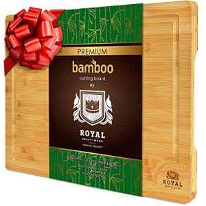 extra large organic bamboo cutting board with juice groove kitchen chopping