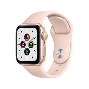 new apple watch se gps 40mm gold aluminum case with pink sand sport band