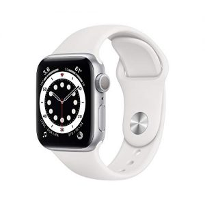 new applewatch series 6 gps 40mm silver aluminum case with white sport