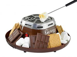 nostalgia indoor electric stainless steel smores maker with 4 compartment