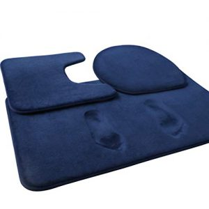 feelso memory foam bath mat 3 piece rugs soft non slip and absorbent