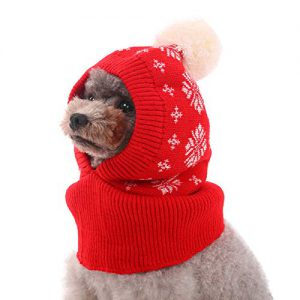 kuoser dog winter hat dog knitted hat pet christmas winter warm caps cute