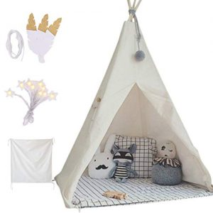 little dove kids foldable teepee play tent with carry case banner fairy