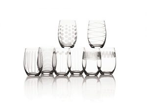 mikasa cheers stemless wine glass 17 ounce set of 8