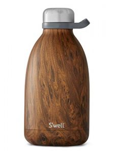 swell stainless steel roamer bottle 64 fl oz teakwood triple layered