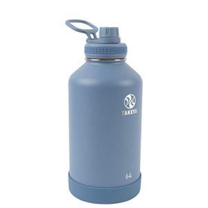 takeya actives insulated water bottle wspout lid bluestone 64 ounce