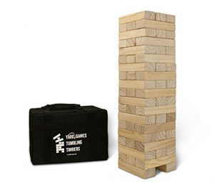 yard games giant tumbling timbers with carrying case starts at 25 feet tall