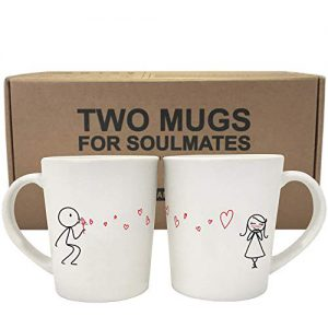 boldloft from my heart to yours his and hers matching couple coffee mugs set