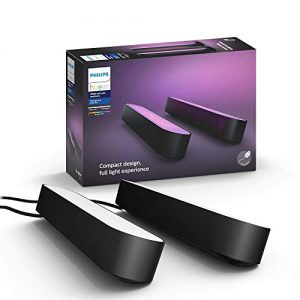 philips hue play black color smart light 2 pack base kit hub