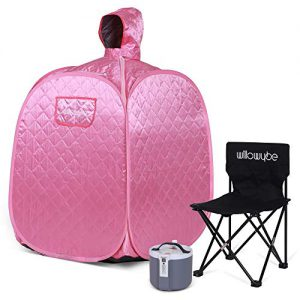 willowybe portable personal steam sauna home spa an indoor steam sauna for