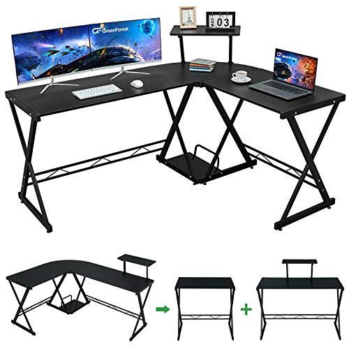 GreenForest L Shaped Desk 58