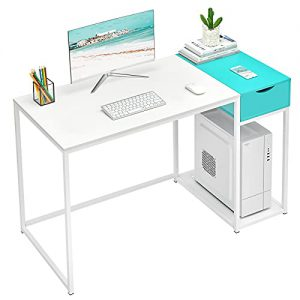 masacoro computer desk with drawers 40 inch home office writing study desk