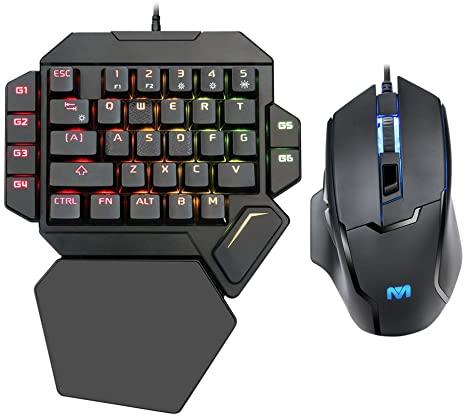 EQEOVGA One Handed Mechanical Gaming keyboard