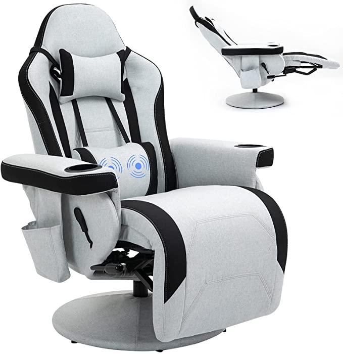 HOMHUM Comfortable Massage Gaming Reclining Chair
