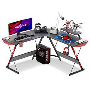 motpk l shaped gaming desk 51 l shaped desk real carbon fiber coated